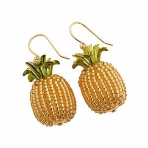 "NWT! KATE SPADE ""By The Pool Pineapple"" Earrings"